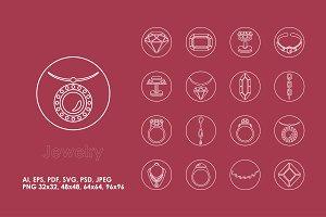 16 jewelry icons