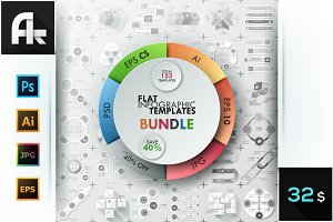 Bundle Of Flat Infographics