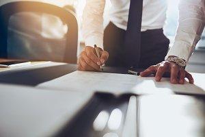 Business documents concept