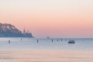 Peaceful sunrise at the sea