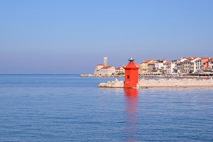 Beautiful sunny day in Piran