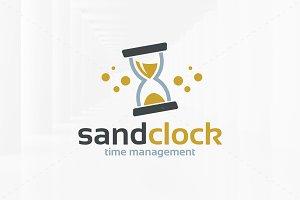 Sand Clock / Hourglass Logo
