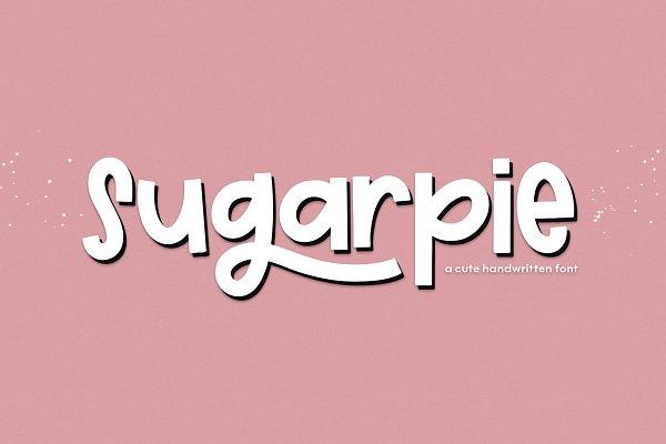 Sugarpie | Cute & Chunky Font