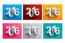 2016 New Year Set of 24 Cards!
