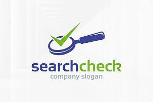 Search Check Logo Template