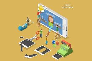 Mobile photo editor concept