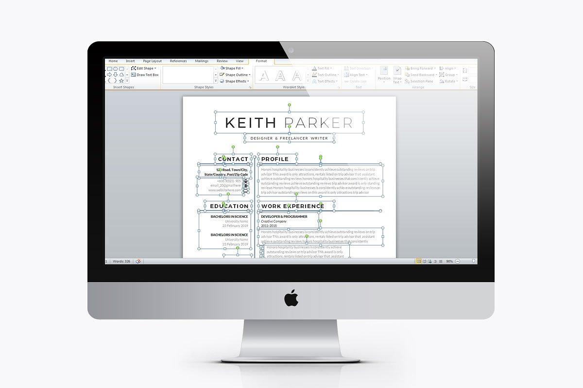 Job Resume Cv | 4 Pages Pack