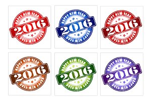 2016 New Year Set of 12 Stamps!
