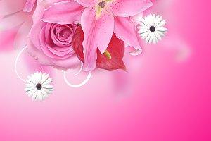 pink flora background