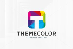 Theme Color - Letter T Logo