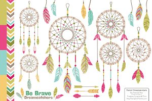 Bohemian Dreamcatcher Illustrations
