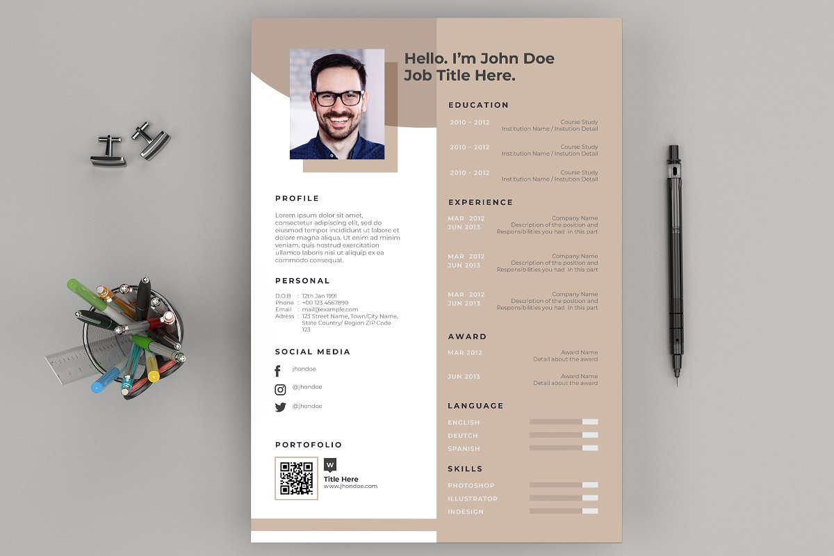Resume / CV Layout and Cover Letter