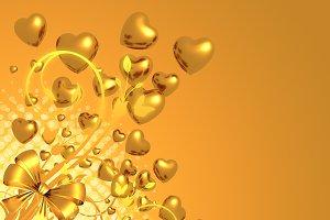 golden love background