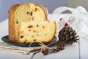 Christmas fruit cake panettone