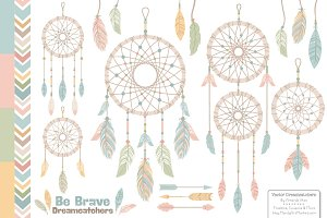 Pastel Tribal Dreamcatchers