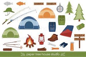 Camping Clip Art Set