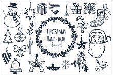 Christmas Hand-draw Elements