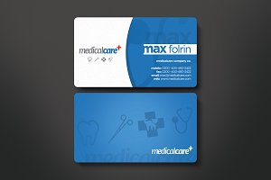 Medical Business Card Templates Creative Market