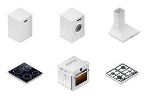Household appliances detailed isomet