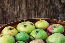 few small apples
