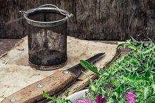 dried yield healing herbs