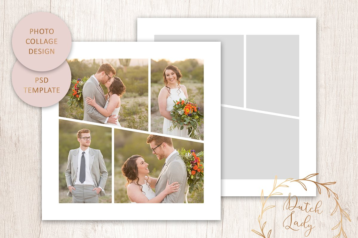 Psd Photo Collage Template 5 Creative Stationery Templates