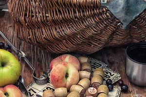 fruit basket and game lotto