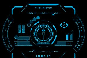 Futuristic HUD, Touch GUI Elements