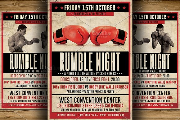 Ufc Flyer Template Ufc Style Fight Night Flyer Template Ufc Style