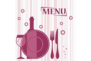 Purple background for cafe menu