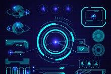 Futuristic HUD, Touch GUI Elements