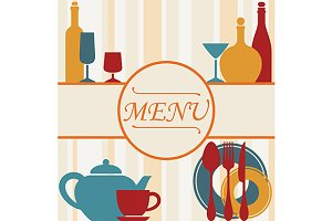 Design of restaurant menu background