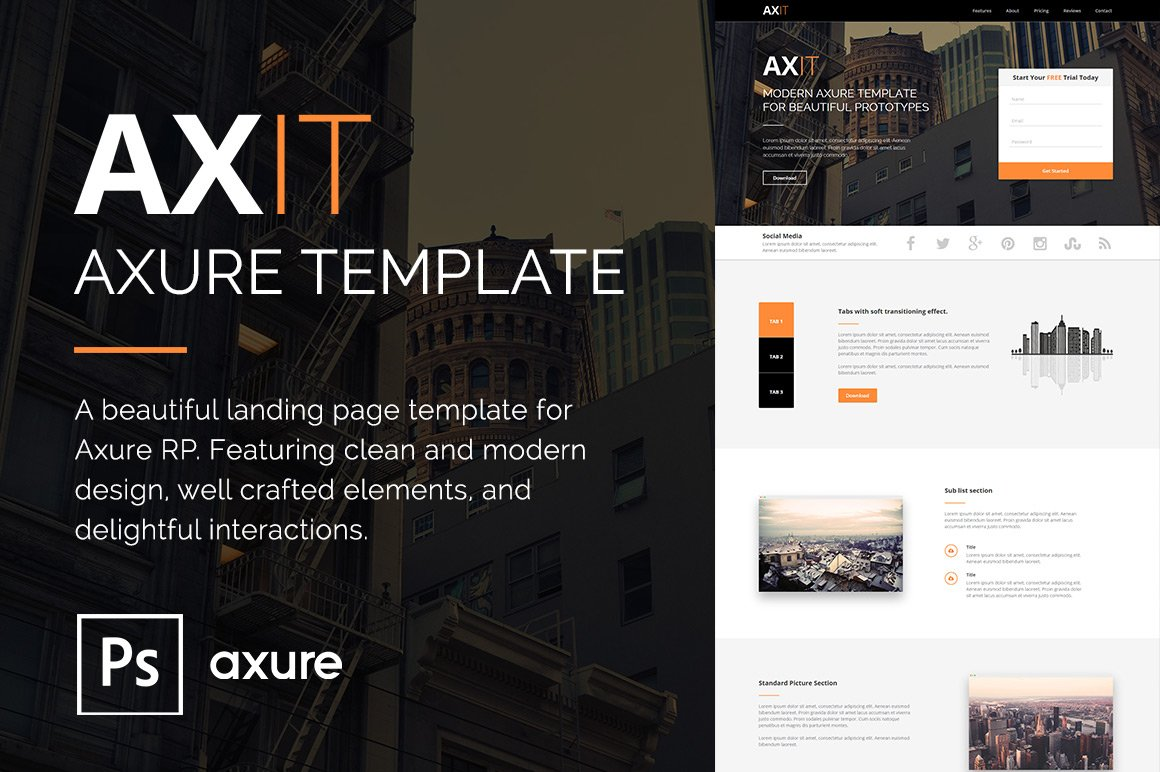 Axit Axure Adaptive Views Template Website Templates Creative
