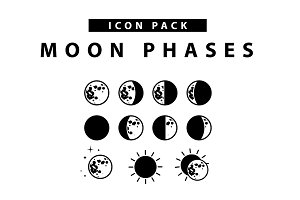 Moon Phases Icon Set