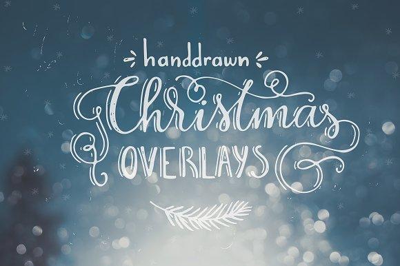 Handdrawn Christmas Photo Overlays - Illustrations