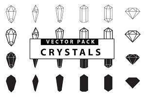 Crystals Vector Pack