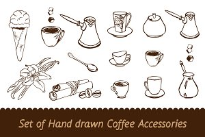 Hand Drawn Coffee Objects