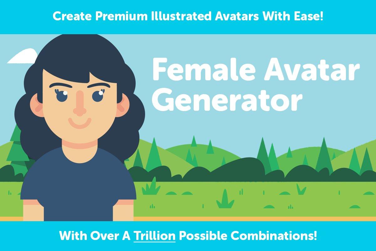 Female Avatar Generator ~ Illustrations ~ Creative Market