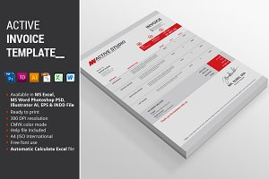 Active Invoice Template