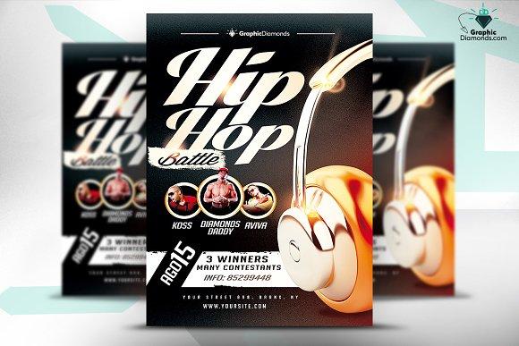 Hip hop battle flyer psd flyer templates on creative market for Hip hop psd