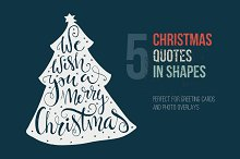Handdrawn Christmas Quotes in Shapes