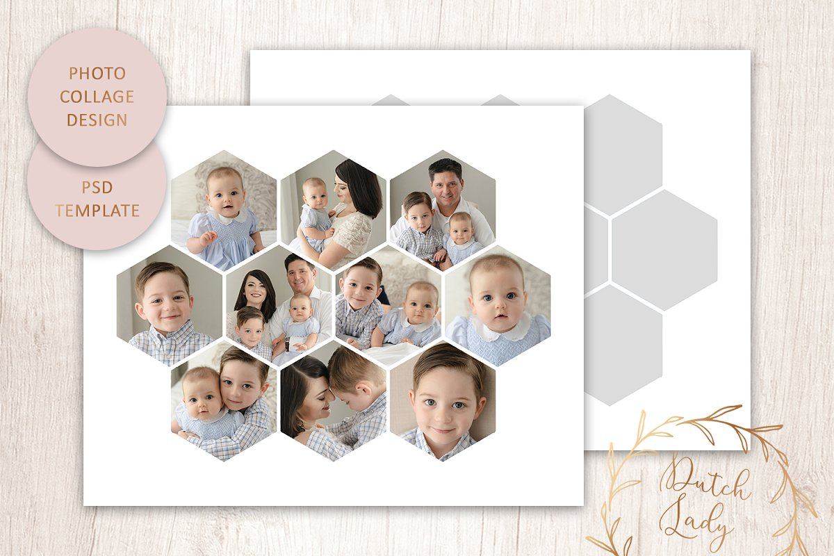 Psd Photo Collage Template 6 Creative Stationery Templates