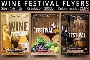 Wine Festival Flyers