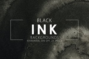 20% OFF Black Ink Backgrounds