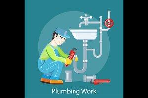 Plumbing Work Concept