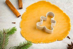 Preparation of gingerbread cookies