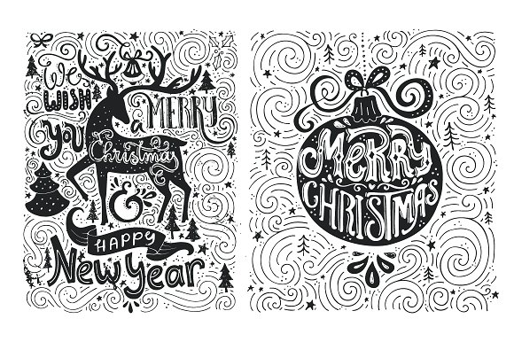 Artistic Christmas Cards Illustrations Creative Market