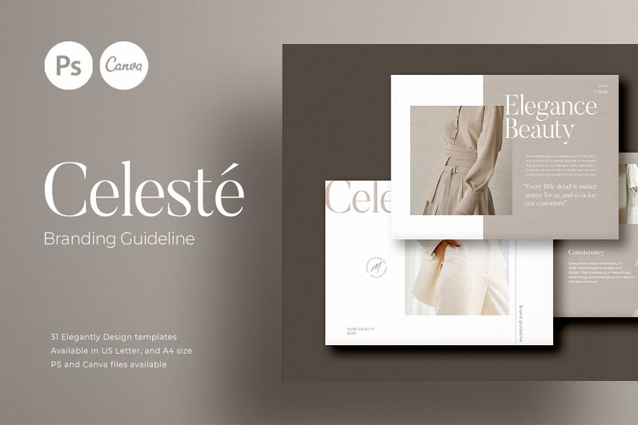 PS & CANVA Celeste Brand Guideline