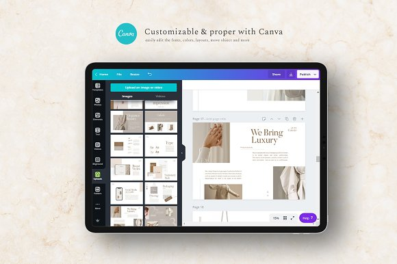 PS & CANVA Celeste Brand Guideline in Magazine Templates - product preview 1