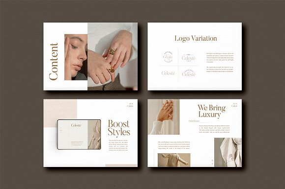 PS & CANVA Celeste Brand Guideline in Magazine Templates - product preview 2